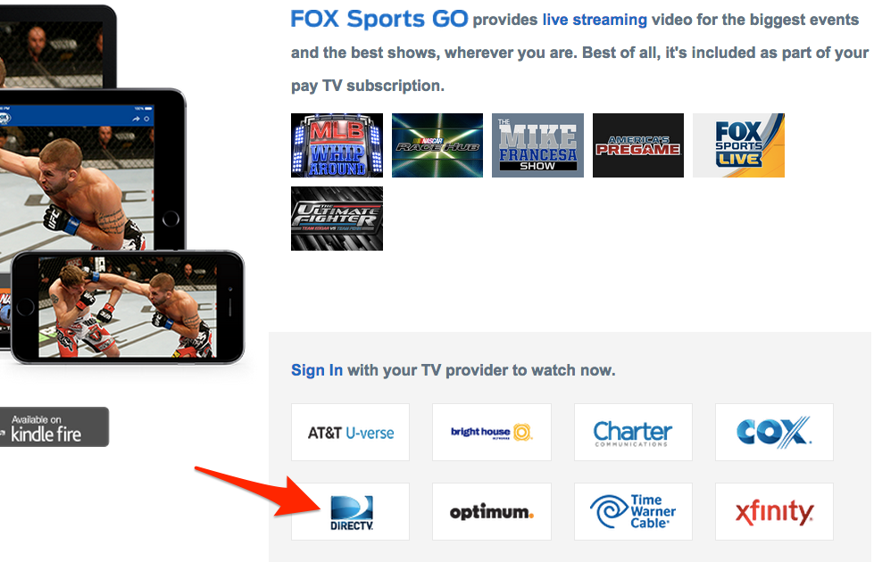 FOX Sports GO Now Available to DirecTV Subscribers | TechGraphs